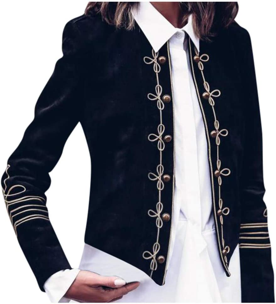 Womens Vintage Gothic Blazer Suit Slim Steampunk Coats Military Jackets Outwear