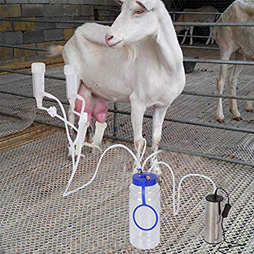 Best Price! FairOnly Electric Milking Machine Portable Breast Pump Cow Sheep Milking Eqipment Sheep ...