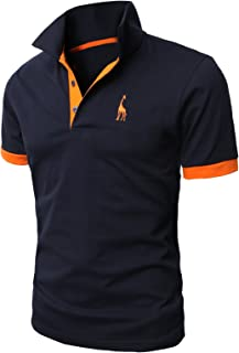 H2H Mens Casual Slim Fit Polo T-Shirts Basic Designed of Various Styles