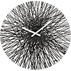 koziol SILK Wall Clock, Cosmos Black