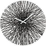Koziol SILK Quartz wall clock Círculo Negro - Reloj de pared (Negro, 448 mm, 35 mm, 448 mm)