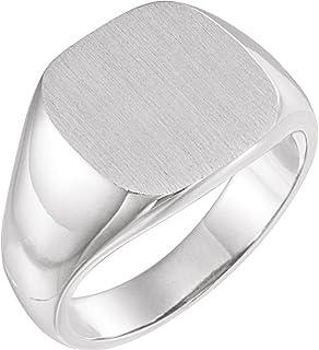 خاتم سيجنيت للرجال من الفضة الإسترلينية 925 من إف بي جويلز مع لمسة نهائية من فرشاة