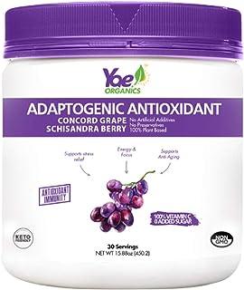 Yae! Organics Adaptogenic Antioxidant and Immune Support, Organic Grape Juice Concord Grape Schisandra Berry (15.88oz/30 S...