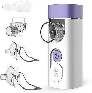 HYLOGY Nebulizador Inhalador Portátil, Recargable USB Kit con Boquilla y Máscara para, Nebulizador silenciosos para adulto...