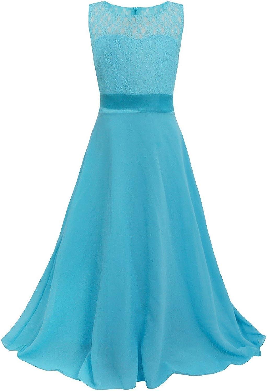 FEESHOW Kids Big Girls Lace Junior Lon Bridesmaid Flower New color Chiffon List price