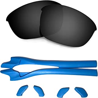 Hkuco Replacement Lenses and Earsocks Rubber Kit For Oakley Half Jacket 2.0