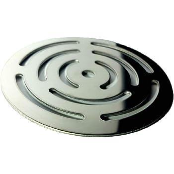 Rejilla redonda de 11,5 cm en acero inoxidable para platos de ducha de resina,pizarra,mármol,piedra: Amazon.es: Bricolaje y herramientas