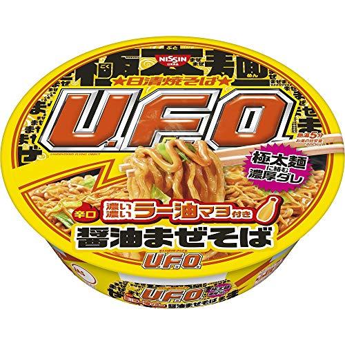 日清焼そばU.F.O. 濃い濃いラー油マヨ付き醤油まぜそば 112g ×12個