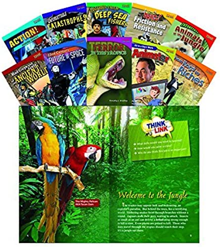 Shell Education 18255 Time For Kids Informational Text Größe 5 Readers Set 3, 10-Book Set by Shell Education