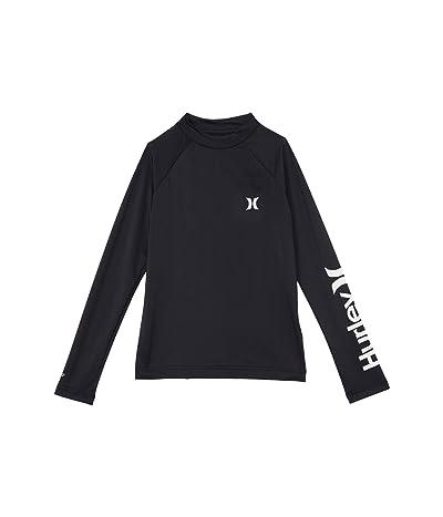 Hurley Kids UPF 50+ Dry Rashguard Shirt (Big Kids) (Black) Boy