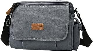 Genda 2Archer Men's Small Crossbody Everyday Handbag Sling Canvas Shoulder Bag One Size Gray