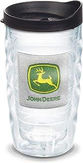 Tervis John Deere - Classic Logo Tumbler with Emblem and Black Lid 10oz Wavy, Clear