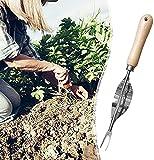 Herramienta para deshierbar de jardín Herramientas de jardinería, herramienta de cuidado de plantas de macetas de acero inoxidable, cortador de extracción, extractor de dientes de león, conveniente y