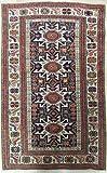 AD341 - Fatto a Mano Tappeto SHIRVAN Antico Autentico Azerbaigian Cm.130 x 91 - tappeti persiani e orientali -