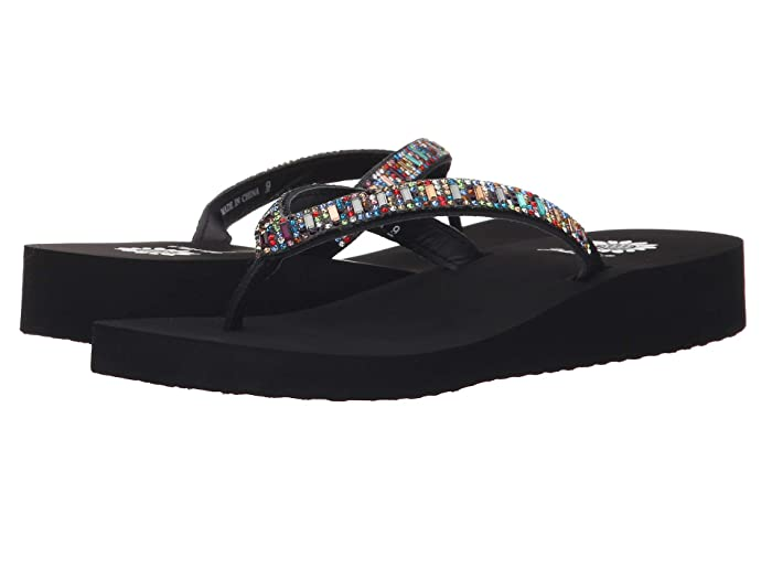 Yellow Box  Zemily (Black Multi) Womens Sandals