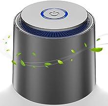 Purificateur d'air maison avec HEPA Véritable 99.97% Filtration Ultra Silencieux <32db, 2 Vitesses, Veilleuse, Capturer Po...