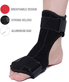 OUTERDO Plantar Fasciitis Night Splint - Adjustable Brace Support Unisex Fits for Right or Left Foot, Arch Support/Ankle Night Brace Effective Relieve Pain for Achilles Tendon Drop Foot