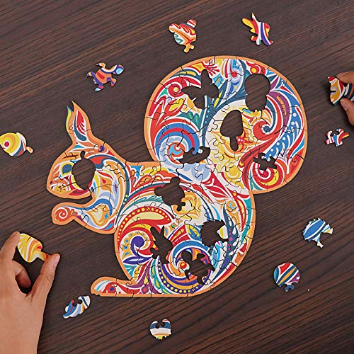 Jigsaw Puzzle Toy, Building Block Puzzle Quality Puzzle Adult Children Gift Wooden, Toys & Hobbies for Home Family Interactive DIY Killing Time