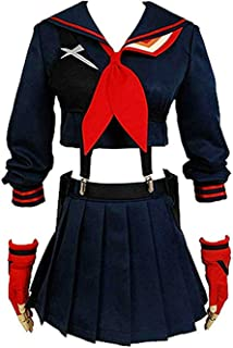 Baycon Womens Ryuko Matoi Dress Cosplay Costume Battlesuit Halloween High School Academy Sport Outfit