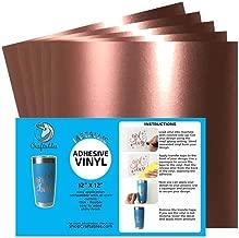 Craftables Rose Gold Metallic Craft Vinyl for Cricut and Silhouette, Cameo - Chrome Polish Finish Vinyl - (5) 12
