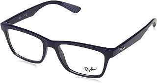 Unisex RX7037 Eyeglasses Shiny Dark Violet 56mm