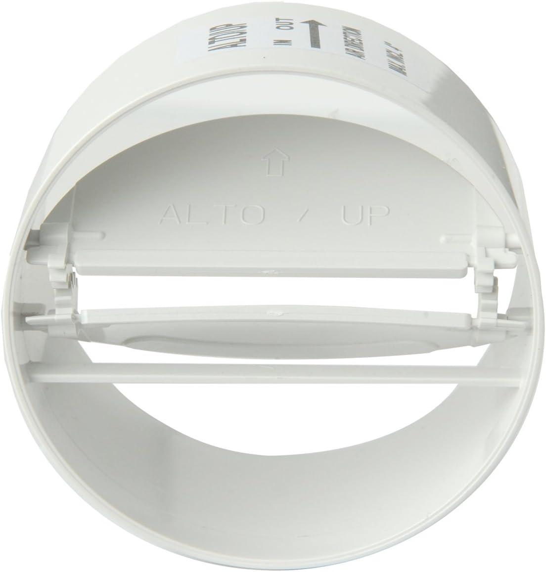 La ventilaci/ón CCV229B curva vertical 220 x 90 mm en ABS con embudos F//F para tubos rectangulares Color blanco.