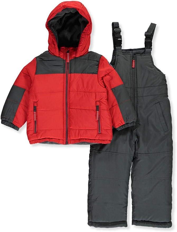 OshKosh BGosh Girls Ski Jacket and Snowbib Snowsuit Outfit Set 2T Aqua//Stars