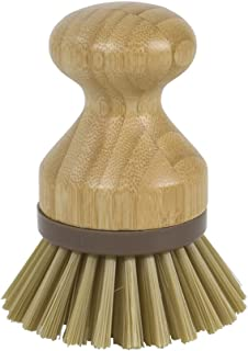 Evriholder Mini Scrub Brush Dish Scrubber Made of Sustainable Bamboo and Recycled Plastic