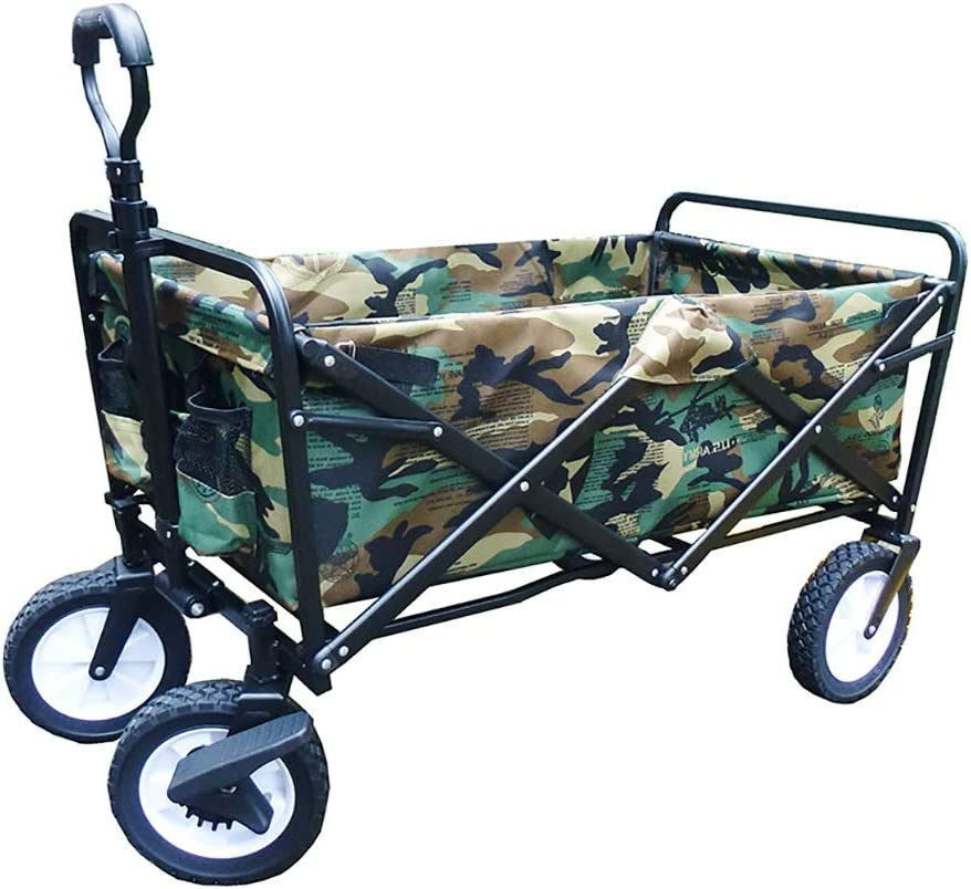 Folding Wagon Garden Trolley Heavy Cart Wag Duty Raleigh At the price Mall