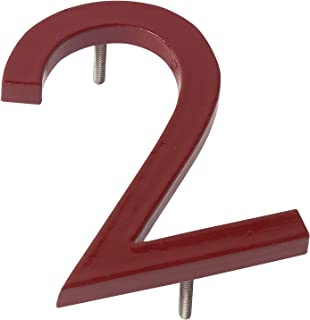 """Montague Metal Products MHN-10-F-BR1-2 Solid Brushed Aluminum Modern Floating Address House Numbers, 10"""", Powder Coated Br..."""