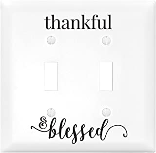 Thankful & Blessed Let Your Light Shine Double Light Switch Cover