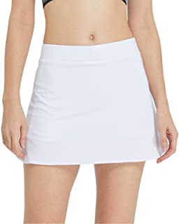 birbyrrly Women's Tennis Skirt with Pockets Shorts, Side Slit Athletic Skort for Golf Running Workout