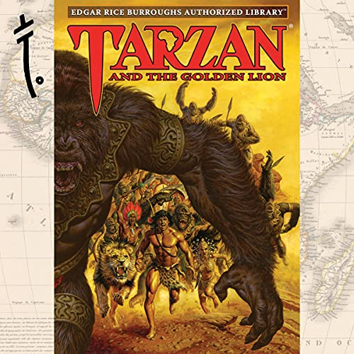 Tarzan and the Golden Lion Audiobook By Edgar Rice Burroughs cover art