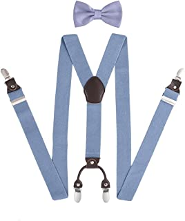 "Men Braces KANGDAI Braces For Men 3 Clips Wide 1.4"" Y Back Heavy Duty Men Braces Elastic Durable Suspenders Strong Metal C..."