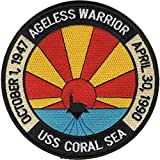 USS Coral Sea CV-43 Patch Ageless Warrior