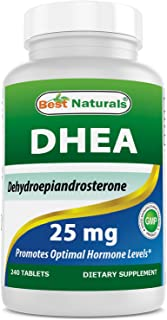Best Naturals DHEA 25mg Supplement 240 Tablets - Supports Balanced Hormone Levels for Men & Women - Promotes Healthy Aging - USA Manufactured