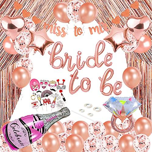 Addio al Nubilato Bride to Be,Addio al Nubilato Decorazioni,JGA decorativa,Bride To Be Palloncini Banner Party,Addio al Nubilato Festa,Bachelorette Party Accessories,Hen Party(Oro rosa)