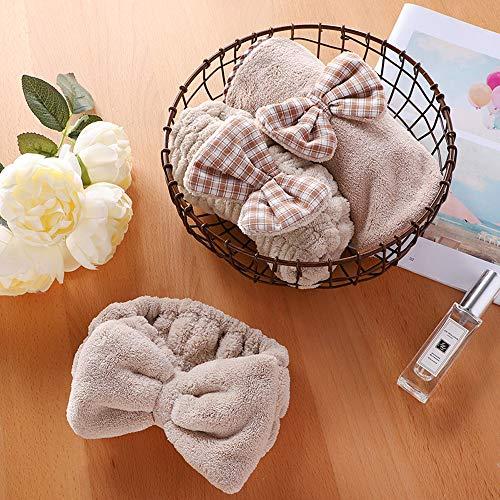 (kostuum, 3-delig), multifunctioneel, praktisch, absorberend en sneldrogend, pluisvrij, voor droog haar, handdoek, haardroger, douchekap, haarband.