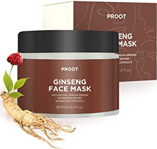 Ginseng Face Mask | 52.9% Korean Red Ginseng Extract | Anti-Aging Formula for Wrinkles, Fine-Lines, Firmness and Elasticit...