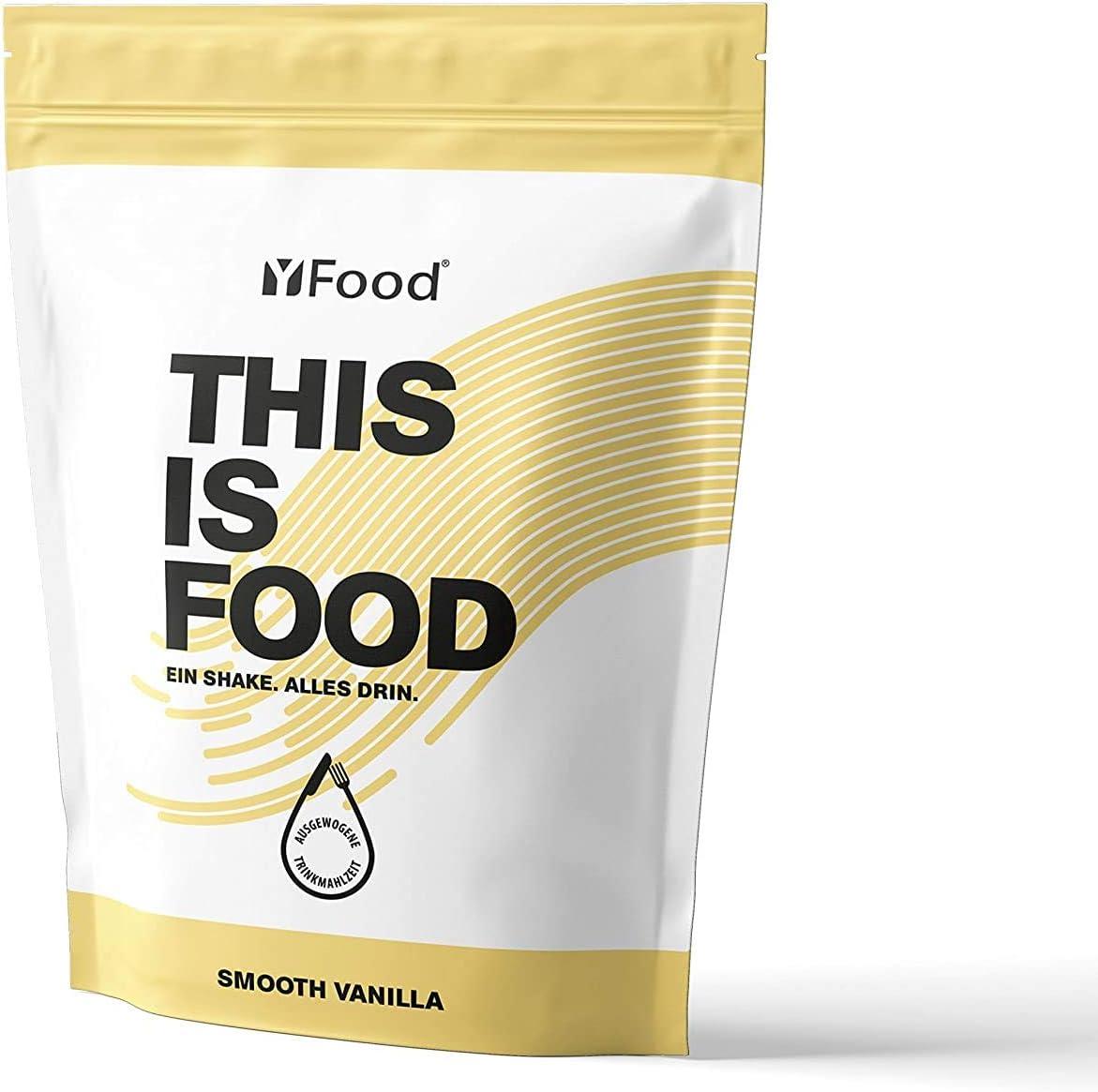 YFood Vanilla | Batido en Polvo | Sustituto de comida sin gluten ni lactosa | 17 comidas, 26 vitaminas y minerales | proteína en polvo | batido de ...