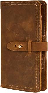 Genda 2Archer Men's Leather Multi-Purpose Travel Wallet Card Passport Holder 11 * 2 * 19cm Brown