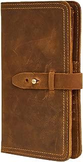 Genda 2Archer Men's Leather Multi-Purpose Travel Wallet Card Passport Holder 11 * 2 * 19cm Brown