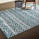 Marca de Amazon - Movian Vit, alfombra rectangular, 180,3 de largo x 119,4 cm de ancho (diseño geométrico)