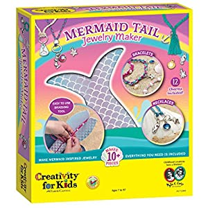Creativity for Kids Mermaid Tail Jewelry Maker – Create 10+ Jewelry Pieces