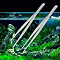 Aquarium-Pinzette mit geradem Ellenbogen aus Edelstahl, 30 cm