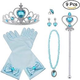 Vicloon 9pcs Princesse Dress Up Accessoires Filles