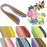 30colores surtidos de papel para filigranas de rayas 600color Origami álbumes DIY Handcraft (390mm x5mm)