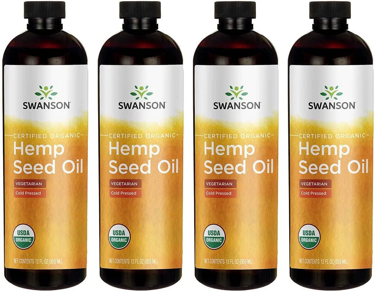 High quality new Swanson Hemp Seed Max 84% OFF Oil 12 fl 4 ml Ounce 355 Pack Liquid