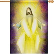 InterestPrint Easter Resurrection Religious Risen Lord Jesus Christ House Flags House Banner Decorative Flags for Home Outdoor,Welcome Holiday Yard Flags 28