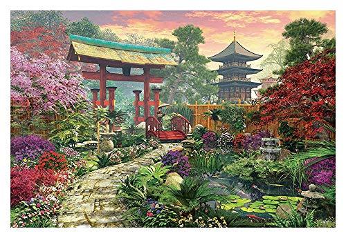 Puzzles Paisaje japonés Jardín - Madera Colorido Rompecabezas - for Adultos y niños-Mejor Juego for Jugar la colección de la Familia (300/500/1000 Piezas) (Size : 500pcs)